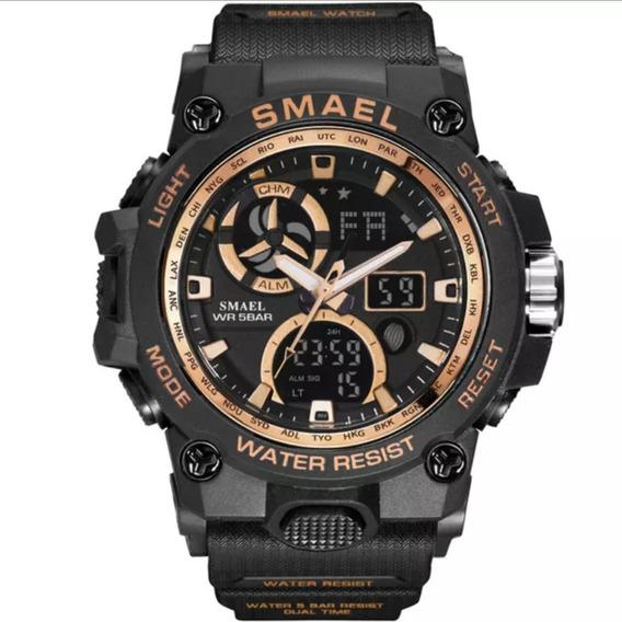 Relógio Masculino Smael Shock 8011 Digital Militar Esportivo