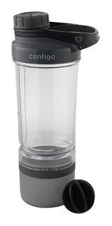 Botella Mezcladora Con Contenedor Shaker 22 Oz Gris Contigo