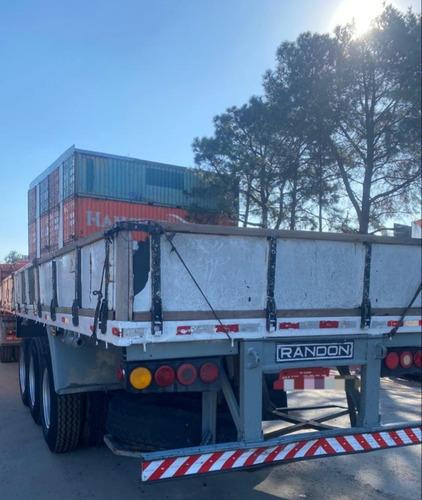 Randon Carga Seca 1987 Com Porta Container