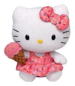 Pelúcia Ty Beanie Babies - Hello Kitty Rosa - 15cm Original