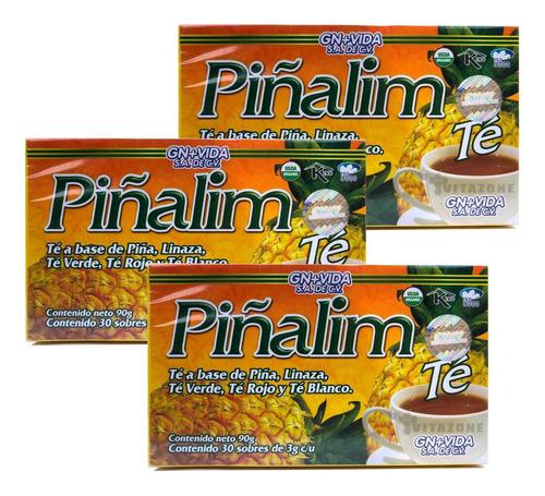 Imagen 1 de 6 de Piñalim 30 Sobres Gn+v 3 Cajas