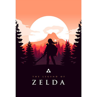 Placa - Decorativa - Grande - The Legend Of Zelda - (gv444)