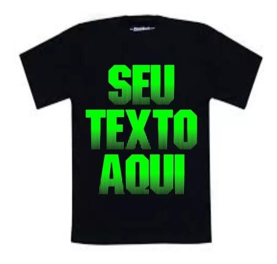 Camiseta Personalizada Cor Preta À Partir De R$12,50