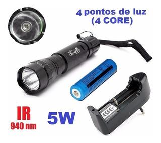 Lanterna Ultrafire 501b 940nm 5w Infravermelho Carreg. Bat.