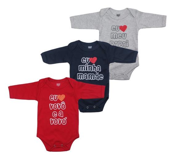 Kit 3 Body Bebê 100% Algodão Doctor Baby Frases