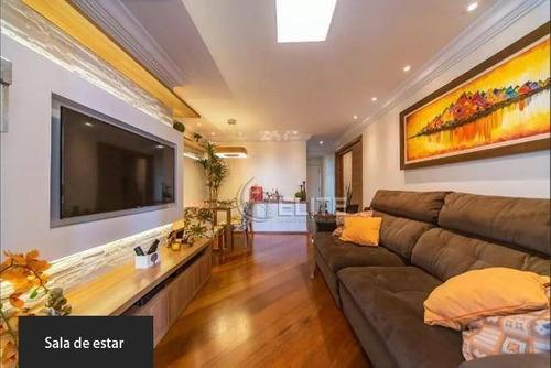 Apartamento Com 3 Dormitórios À Venda, 110 M² Por R$ 584.990,90 - Vila Assunção - Santo André/sp - Ap12105
