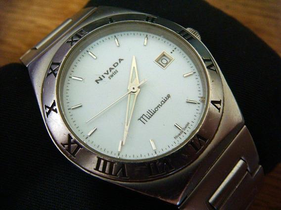 Reloj Nivada Millionaire Swiss Made Acero Inox. 100%
