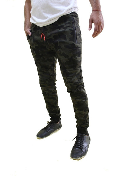 Pantalón Importado Jogging Camuflado Con Puño Calidad