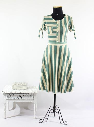 Imagem 1 de 3 de Vestido Feminino Midi Laço Confortável Evangelico Godê Duplo