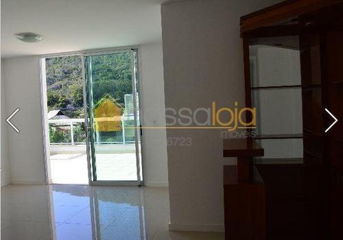Cobertura Duplex, Próxima Itacoatiara, Varanda, Sla  L , 3 Qtos, Ste, Banho, Lavabo, Área, Deps, Terraço, Piscina, Churrasqueira, 2 Vagas, Play Clube. - Co0263