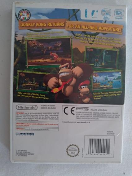 Jogo Donkey Kong Country Returns Nintendo Wii Mídia Física