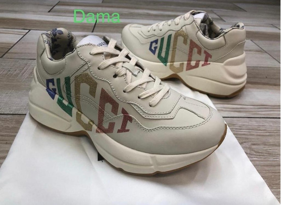 Tenis Rhyton Glitter Gucci