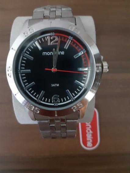 Relógio Masculino Analógico De Aço Mondaine Original