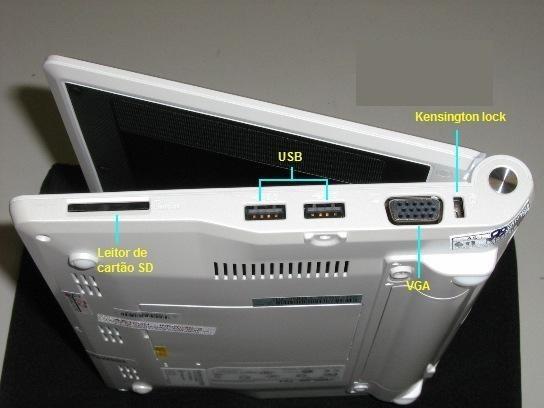 Netbook Asus Eeepc 701 Funcionando Ok! Com Winxp, Exceto Bateria Não Carrega