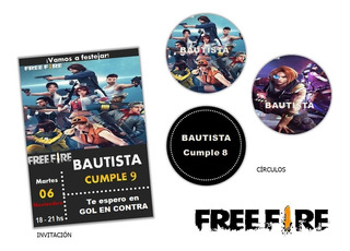 Kit Imprimible Free Fire Candy Bar Editable