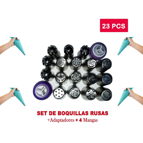 Set Boquillas Rusas - Set X 23pcs + Mangas Envió Gratis !!