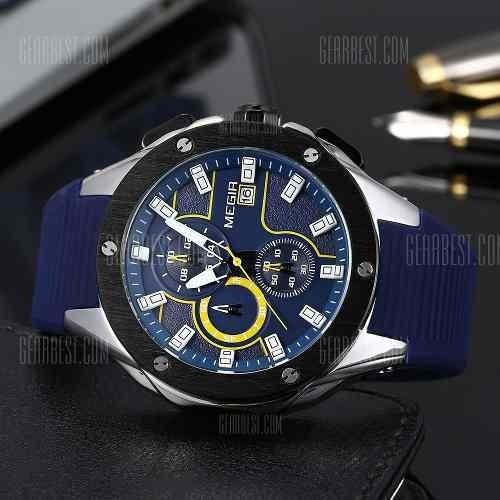 Relógio Masculino Esportivo Megir 3d 2053 Promoção