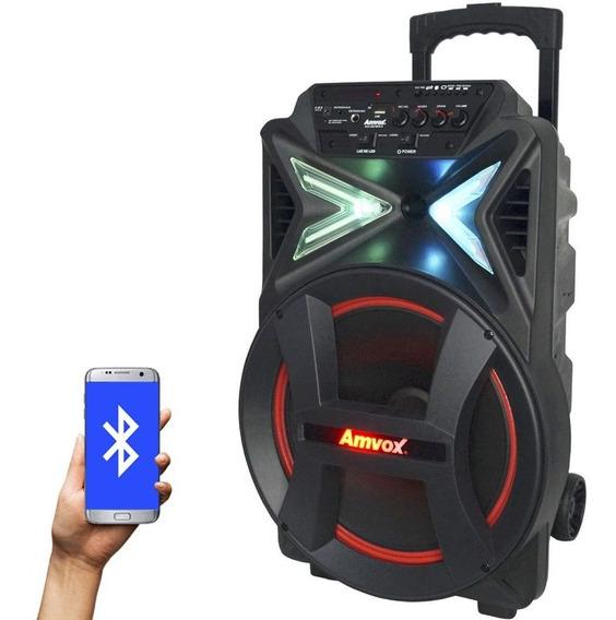 Caixa Som Amplificada Bluetooth 290w Portátil Led Sub 12 Tws