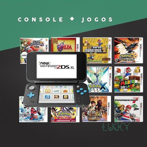 New Nintendo 2ds Xl + Jogos Instalados!