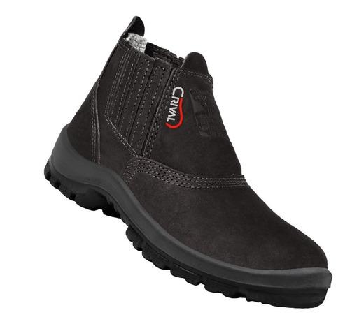 Zapato Calzado De Trabajo Cuero Nobuck