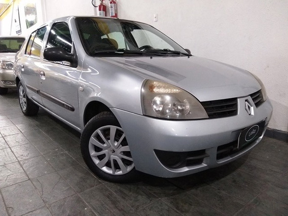 Clio Sedam 1.6 Authentique Prata - Completa. 2008
