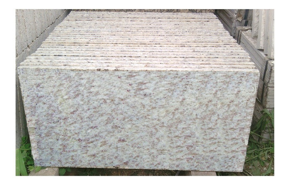 Piso De Granito Natural 60x30x2 Color Blanco Siena Marca International Stones Mexico