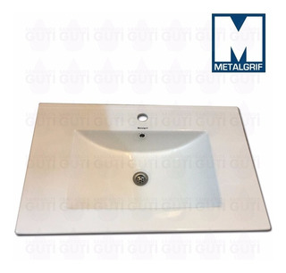 Bacha Vanitory Loza Losa Sanitaria Baño 70 X 46 Cm Metalgrif