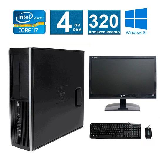 Computador Hp Elite 8200 I7 4gb 320gb Monitor 19 Polegadas
