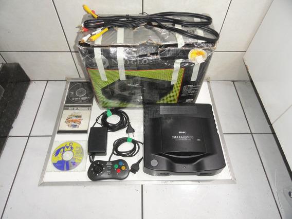 Neo Geo Cd Console Brasil Completo Com Caixa Só Jogar C03