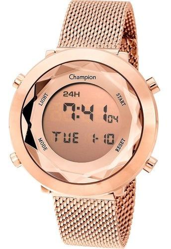 Relógio Champion Feminino Ch48028x Digital, Rose, Alarme,nf