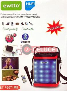 Parlante Portatil Maleta 30w- Bluetooth Karaoke Fm Sd Usb