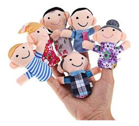Fantoches Dedoches De Pelúcia C/ 06 Unidades Bebês Família
