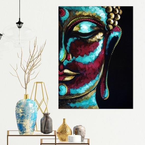 Cuadro Buda Pintura Moderno Decorativo En Lienzo Canvas Algodón No Sintetico Tipo Oleo