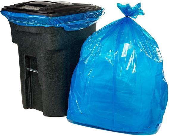 Bolsas Azul Para Separación Basura Y Reciclado 170 Litros