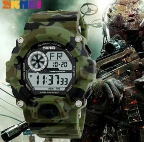 Relógio Militar Skmei 1019 Camuflado Original Prova D