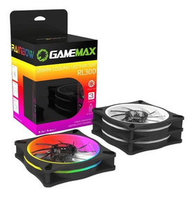 Kit 3 Cooler Fan Rgb 120mm Gamemax Rl300 + Controle Remoto