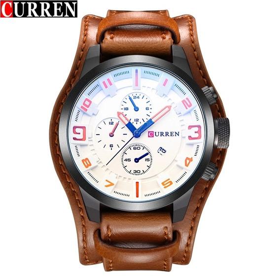 Curren Relógio Masculino Marca De Luxo.