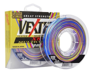 Linha Pesca Multi. Vexter X8 0,29mm 40lb 300m Multicolor