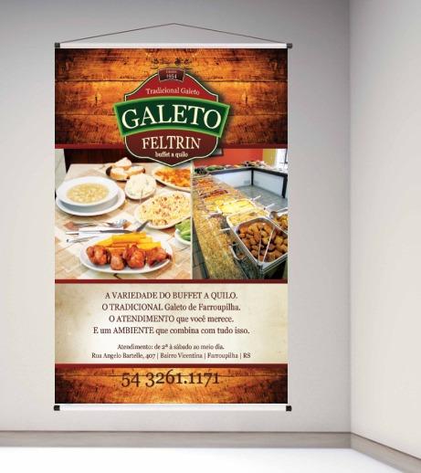 Banner Restaurante Lona Com A Foto Personalize 80x100cm