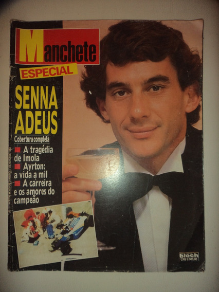 Revista Manchete Especial Airton Senna Adeus Bloch 1994