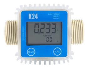 Medidor Fluxo Digital K24 Arla Óleo Diesel Gasolina Químicos