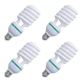 4 Lâmpadas Fria 135w 5500k 220v Estudio Fotográfico Softbox