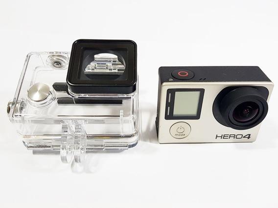 Gopro Hero 4 Silver Com Lcd, Caixa A Prova D