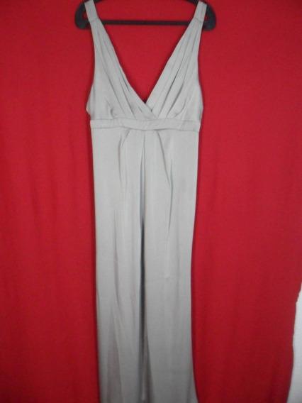 Vestido Cinza Acetinado