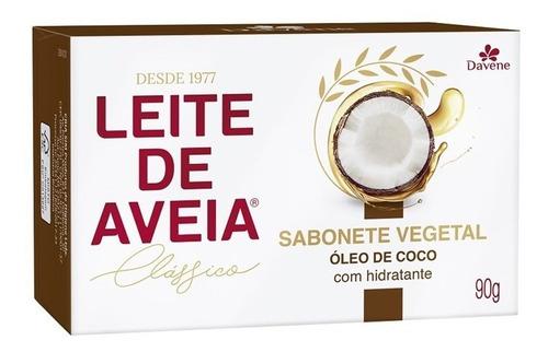 Imagem 1 de 1 de Sabonete Davene Leite De Aveia 90 Gr Óleo De Coc (kit/06 Un)