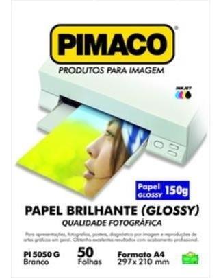 Papel Foto Pimaco A4 Blilhante/glossy 150grs Para Ink Jet 50