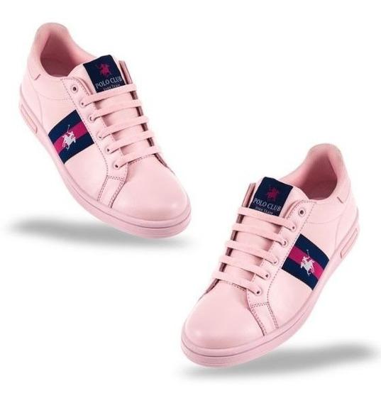 Tenis Casual Polo Club Color Rosa 829773 Urbano 2-19 M