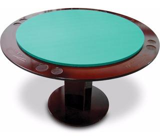 Mesa De Jogos Carteado Poker Redonda P/ 8 Pessoas Mdf 18mm