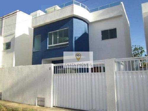 Imagem 1 de 28 de Casa Tipo Apartamento, Amplo Quintal Ou Terraço, Jardim Bela Vista, Rio Das Ostras. - Ca0824