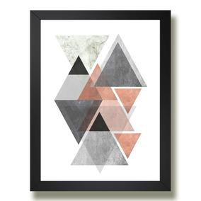 Quadro Figura Geometrica Arte Desenho Abstrato M02 Sala